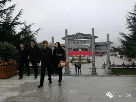 郑州市殡葬管理处杨虎处长一行冒雨调研考察华夏龙园